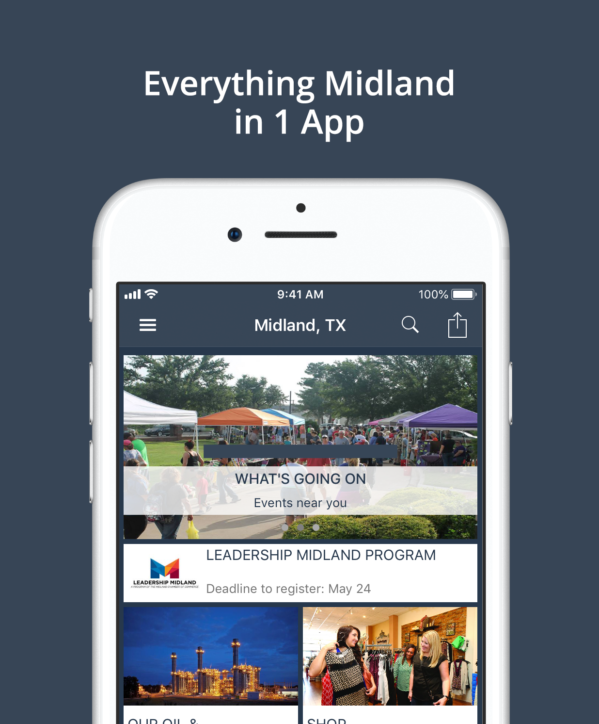 Passport To Midland, Texas App | zCivic