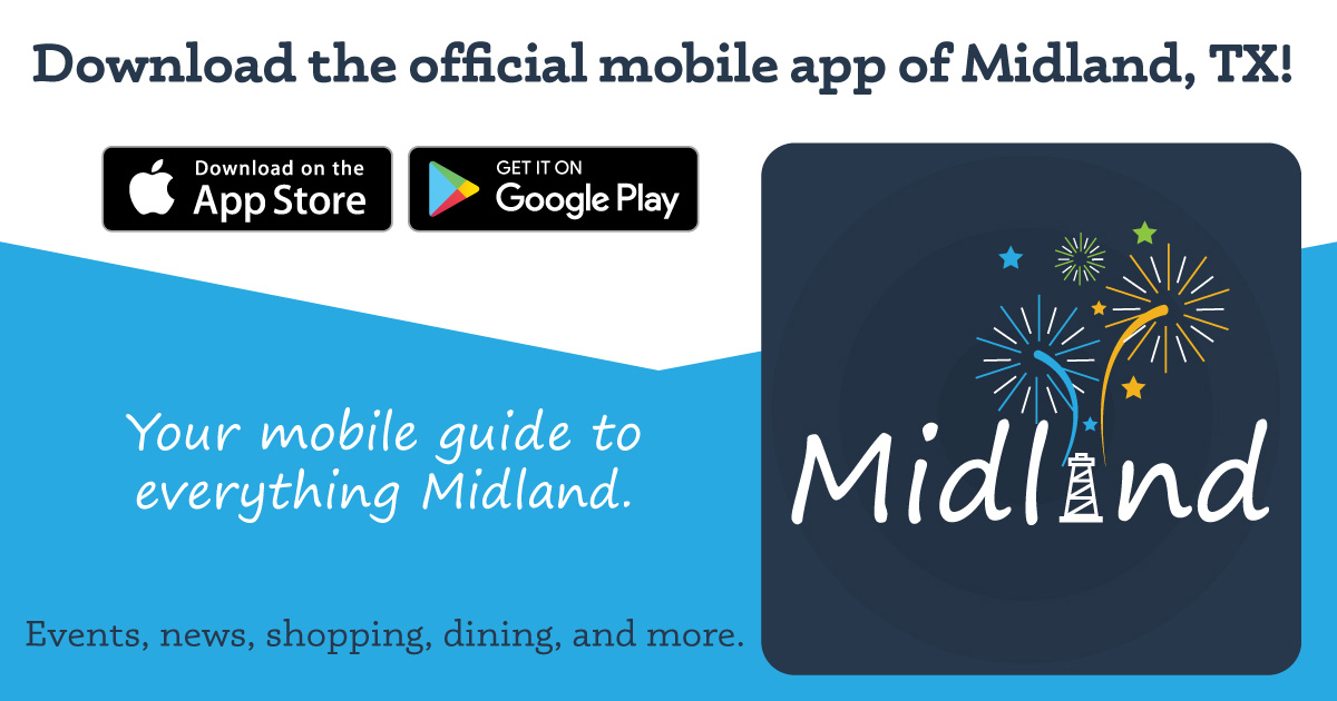Passport 2 Midland App Promo Graphic for Facebook Feed
